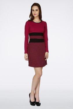 109 F Pink Printed Dress
