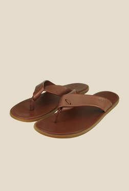 US Polo Assn. Tan Men Thong Sandals