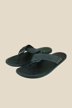 US Polo Assn. Black Men Thong Sandals