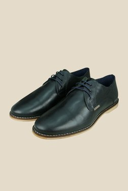 US Polo Assn. Navy Leather Derby Shoes