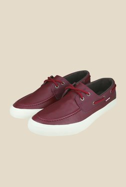 US Polo Assn. Burgundy Boat Shoes