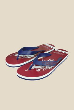 US Polo Assn. Logan Navy & Red Flip Flops