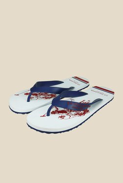 US Polo Assn. Logan Navy & White Flip Flops
