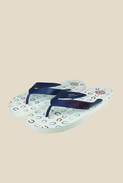 US Polo Assn. Horse Navy & White Flip Flops