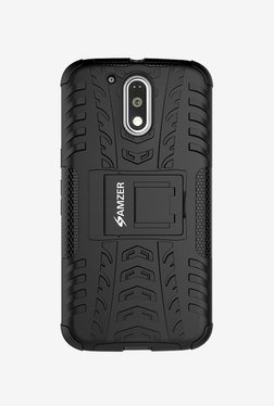 Amzer Hybrid Warrior Case For Moto G Plus 4th Gen (Black)
