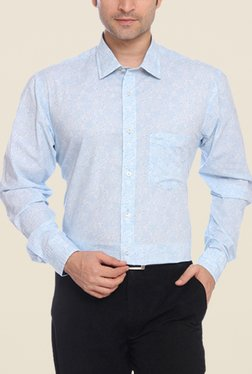 ColorPlus Light Blue Printed Shirt