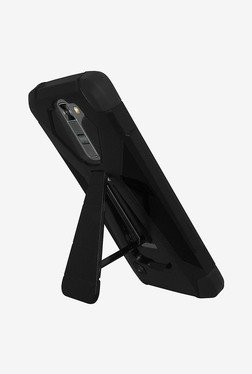 Amzer Dual Layer Hybrid KickStand Case for LG K7 (Black)