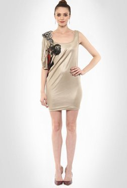 Gaurav Gupta Designer Wear Metallic Short Dress By Kimaya