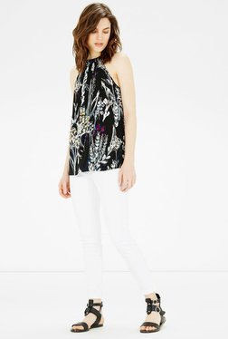 Warehouse Black Printed Top