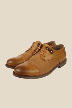Spunk Ertiga Tan Derby Formal Shoes