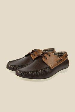 Spunk Drift Coffee & Tan Boat Shoes