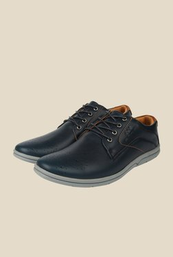 Spunk Rover Navy Derby Shoes