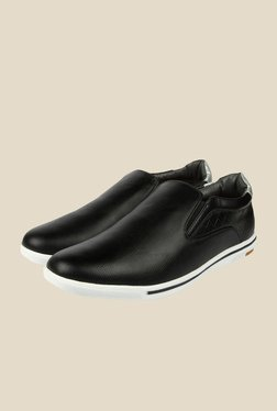 Spunk Orion Black Casual Slip-Ons