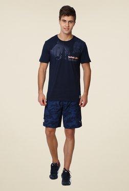 Puma Navy Printed Sports Shorts