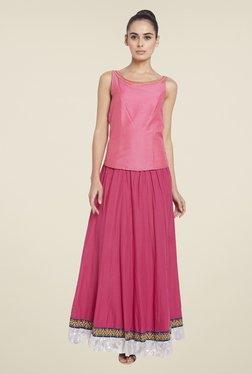 Globus Pink Solid Maxi Skirt