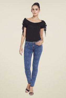 Globus Blue Distressed Skinny Fit Jeans
