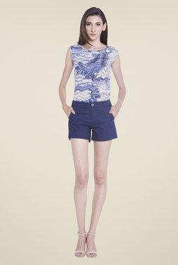 Globus Navy Solid Shorts