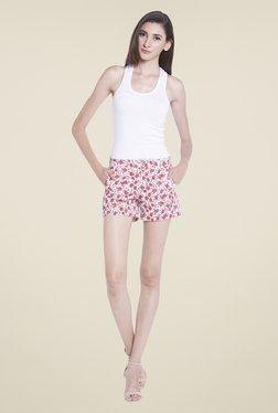 Globus Pink Floral Printed Shorts