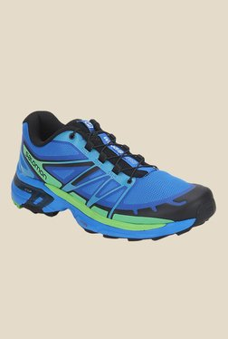 Salomon Wings Pro 2 Blue & Tonic Green Sports Shoes