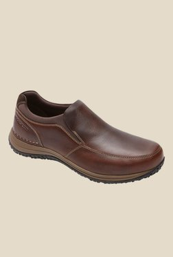 Rockport Walk 360 Brown Slip-Ons