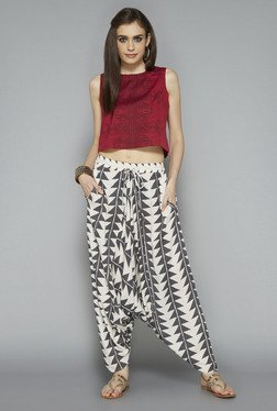 Bombay Paisley By Westside Off White Printed Afghan Pant
