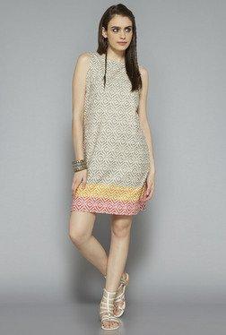 Bombay Paisley By Westside Beige Printed Dress