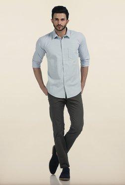 Basics Tapered Fit Olive Irregular Matt Stretch Trouser