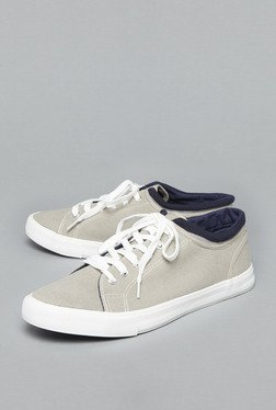 Nuon By Westside Grey Canvas Sneakers