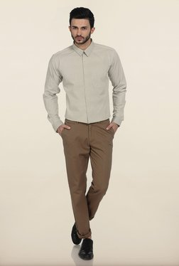 Basics Slim Fit Elmwood Twill Cotton Trouser