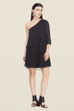 Femella Black One Shoulder Dress