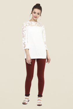 Femella White Lace Top