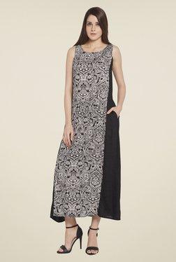 Globus Black Printed Maxi Dress