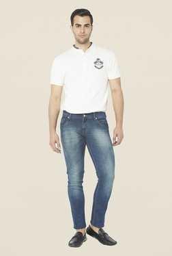 Globus Blue Lightly Washed Regular Denim Jeans