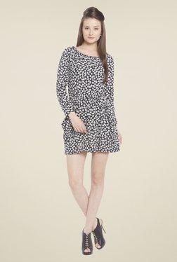 Globus Black Floral Print Mini Dress