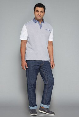 Oak & Keel by Westside White Printed Polo T Shirt