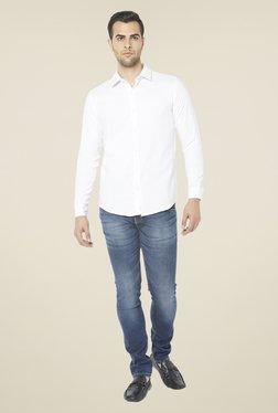 Globus White Solid Full Sleeve Shirt