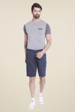 Globus Navy Printed Shorts - Mp000000000263209