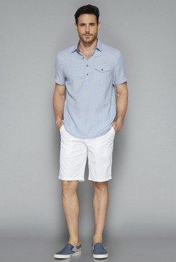 Westsport By Westside Light Blue Solid Shirt