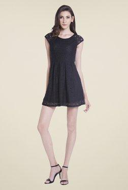 Globus Black Lace Skater Dress