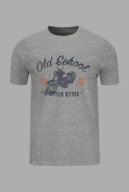 Doone Grey Graphic Print Training T Shirt