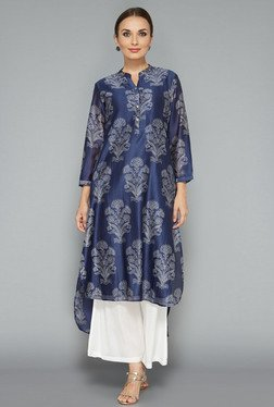 Zuba by Westside Navy Block Print Kurta
