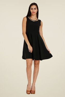 Forever Fashion Black Solid Dress