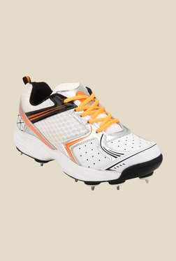 Yepme White & Orange Cricket Shoes