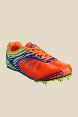Yepme Orange & Green Cricket Shoes