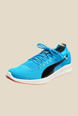 Puma Ignite ProKnit Atomic Blue & Black Running Shoes