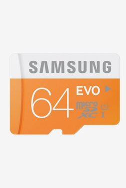 Samsung EVO 64 GB Class 10 Micro SDXC Memory Card (Orange)