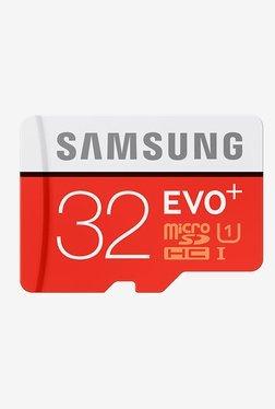 Samsung EVO+ 32 GB Class 10 Micro SDHC Memory Card (Red)