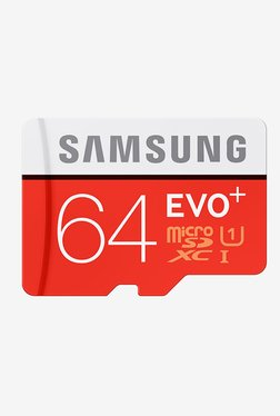 Samsung EVO+ 64 GB Class 10 Micro SDXC Memory Card (Red)