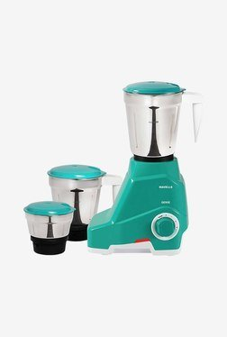 Havells Genie Green 500 Watt 3 Jar Mixer Grinder (Green)