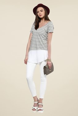 Yepme Celine Grey Striped Top